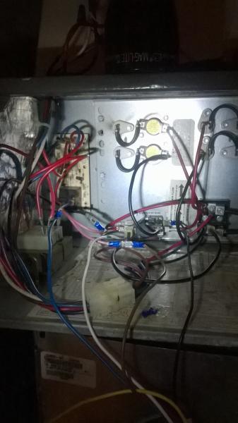 wiring a new carrier blower motor into an old goodman air handler