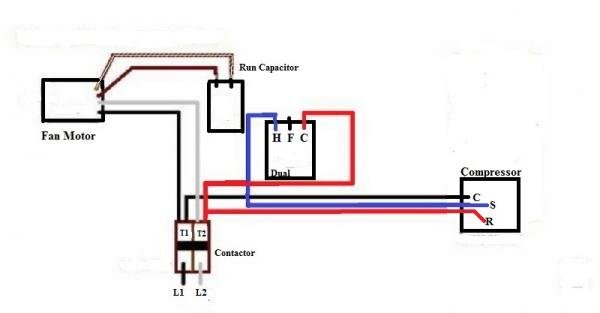 a c condenser contactor wiring