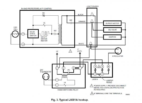 hot water boiler aquastat wiring