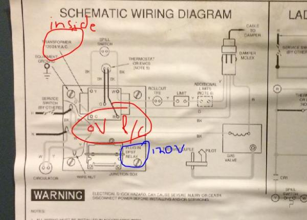 wiring diagram for gas heater