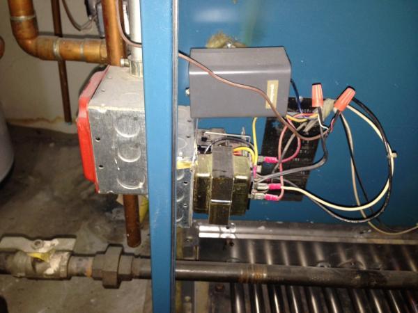 Adding a C Wire to Burnham Boiler - DoItYourself Community Forums