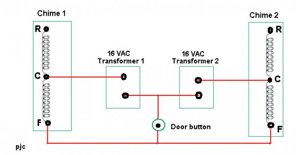 push button wiring diagram one doorbell two chimes