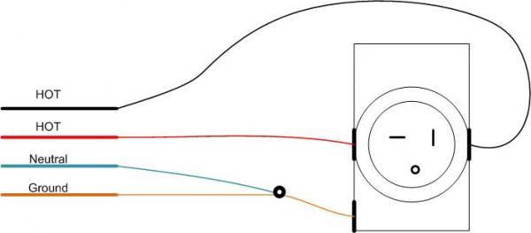 250v Outlet Wiring - Wiring Diagram Online