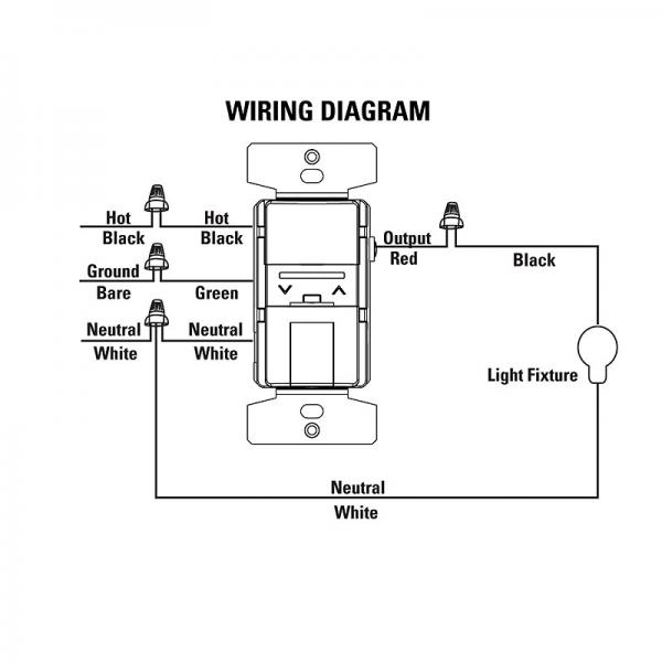 wiring diagram for single pole dimmer switch