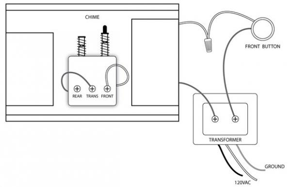 single doorbell wiring diagram