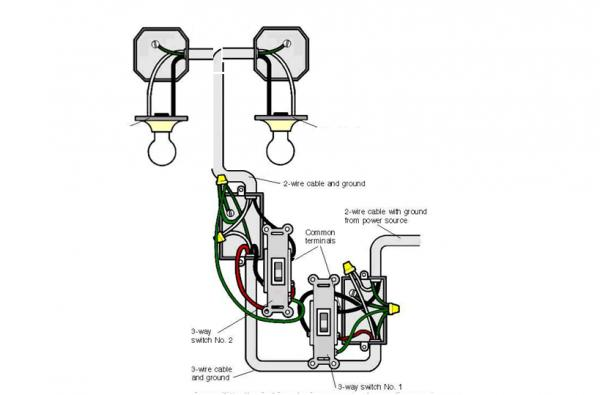 wiring diagram for 1 way switch