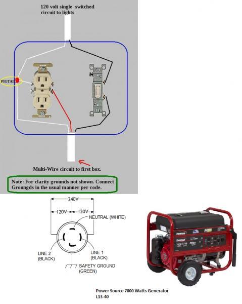 an generator wiring diagram