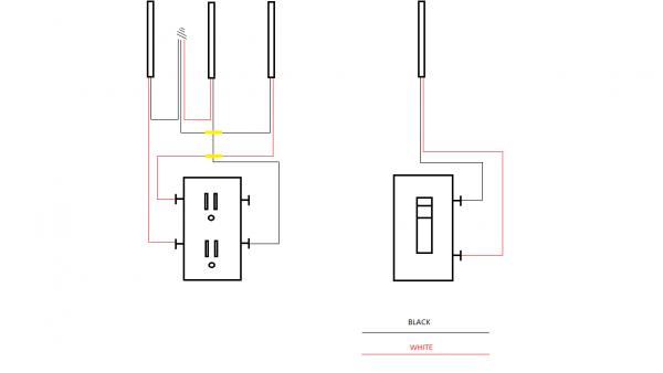 wiring a switch after an outlet
