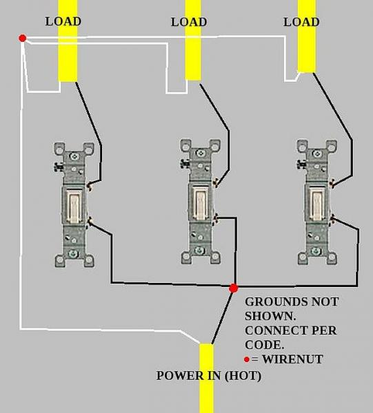 Wiring Three Switches - Wiring Diagrams