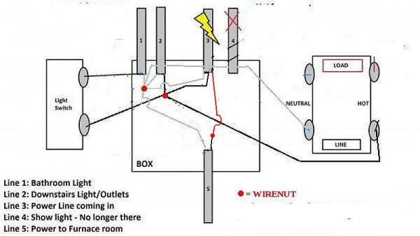 bathroom electrical wiring diagram