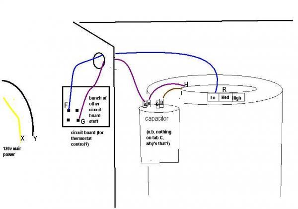 4 wire condenser fan motor wiring diagram