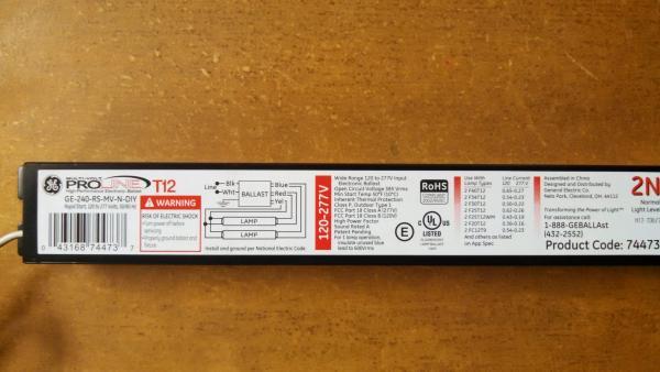 Electronic ballast upgrade in 8\u0027 T12 fixture - DoItYourself