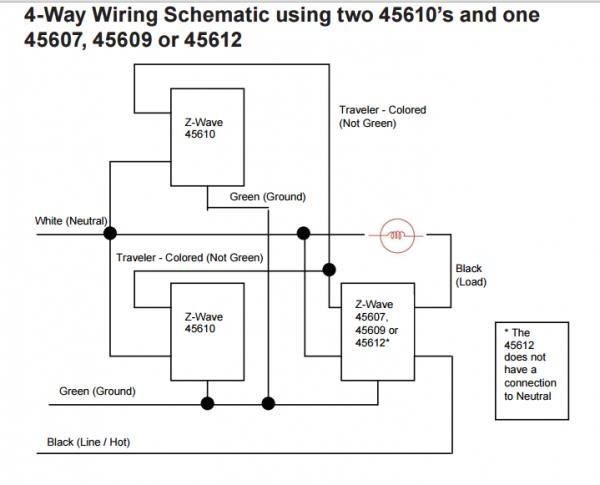 GE 12722 Zwave and 12723 4way wiring - DoItYourself Community Forums