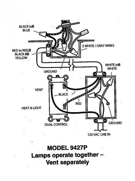 hampton bay bath fan wiring