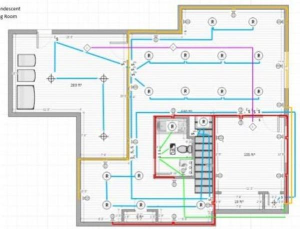 electrical wiring diagram for basement
