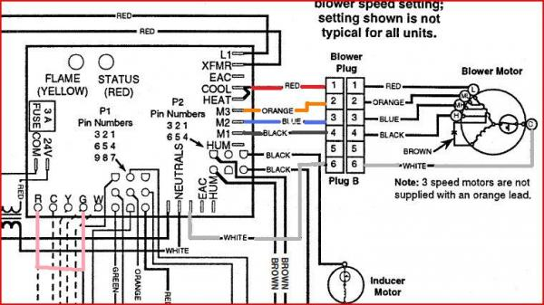 gas furnace wiring diagram for gibson