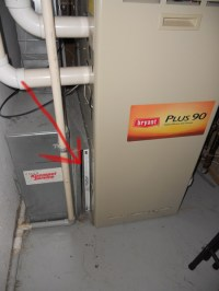 Air Filter Panel Cover on Bryant Gas Furnace ...