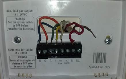 Make my wife happy, Thermostat Wiring Question - DoItYourself