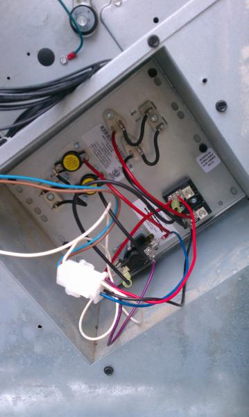 Wiring to heat strip for heat pump system - DoItYourself