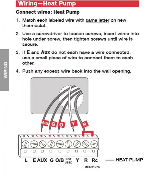 Thermostat Wiring for heat pump) - DoItYourself Community Forums