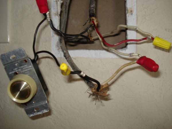 ceiling fan w/cfl and dimmer switch