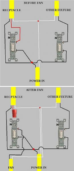 light with switch and receptacle wiring