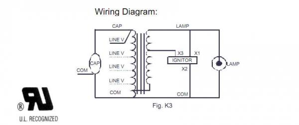 ballast wiring diagram for hid lighting