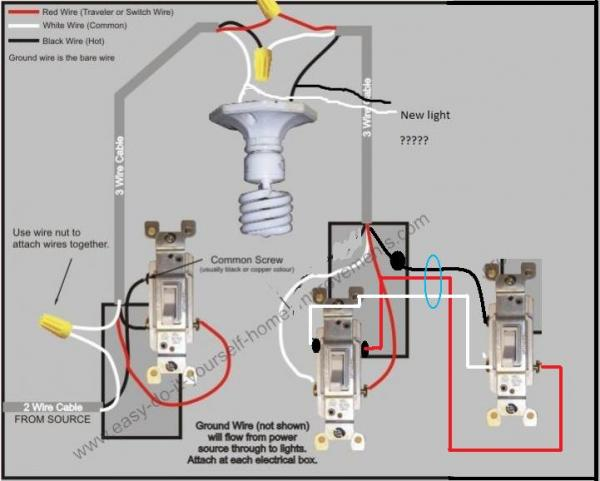 Pj Wiring Diagram 7 Wire 3 Way Switch Question And Adding Light Switch