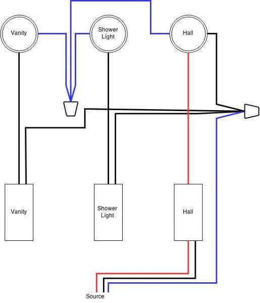 Vanity Light Wiring Diagram Online Wiring Diagram