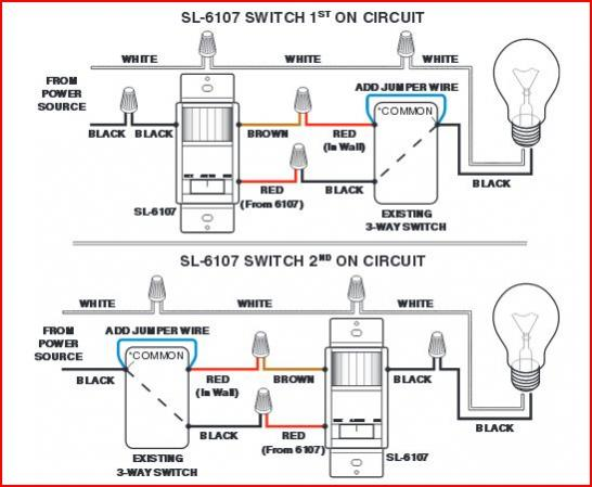 wiring a 3 way switch with motion sensor