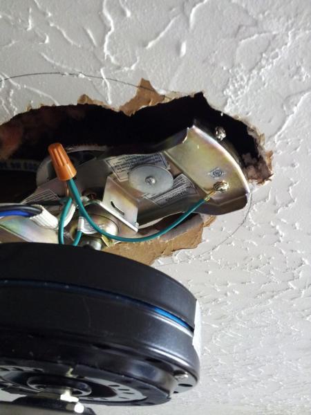 ceiling fan mounting bracket question