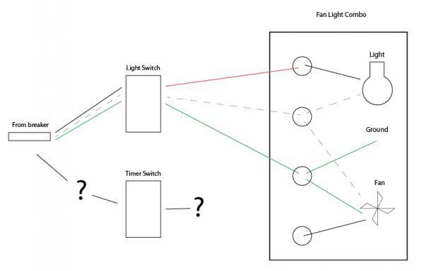 wiring diagram for timer bathroom fan
