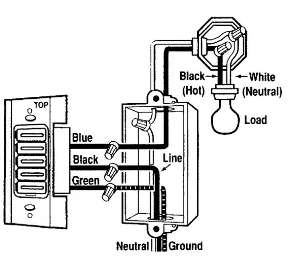 wire diagram for light and switch