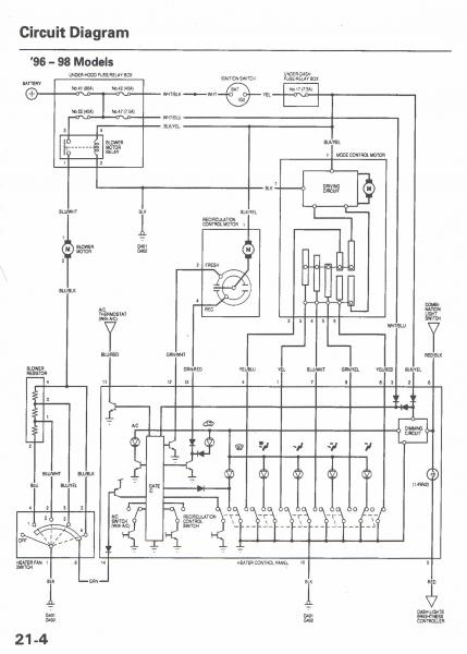 98 honda civic radio wire diagram