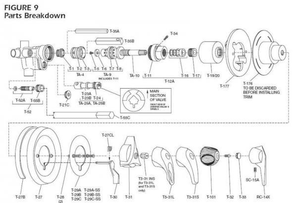 shower valve diagram