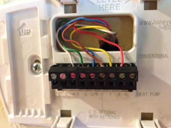 Wiring A Honeywell Thermostat Rth7600d Wiring Diagram