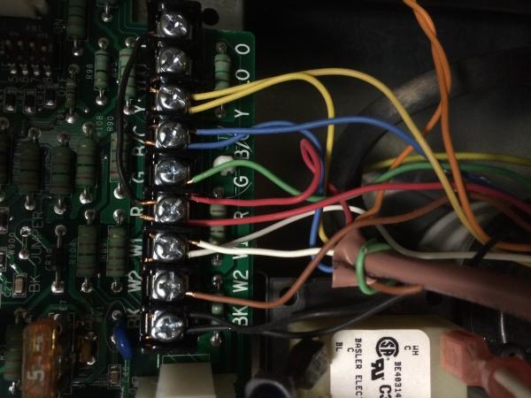 Trane XV95 + XL16i Heat Pump - Honeywell VisionPro IAQ to Honeywell