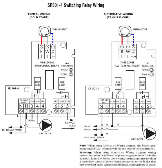 taco switching relay wiring