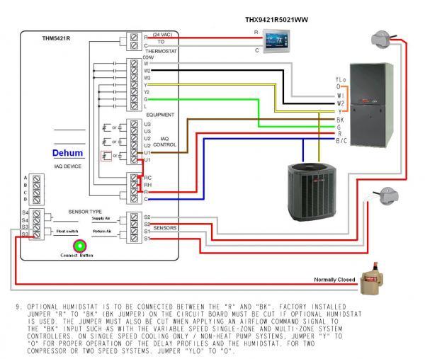 honeywell furnace wiring