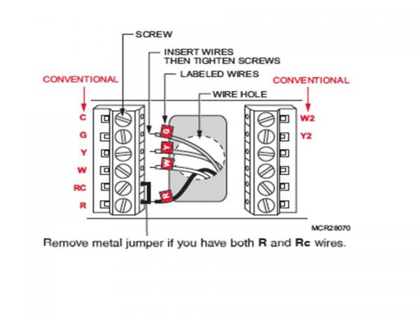wiring diagram for honeywell programmable thermostat