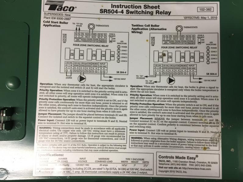 Taco 00 Circulator Wiring Online Wiring Diagram