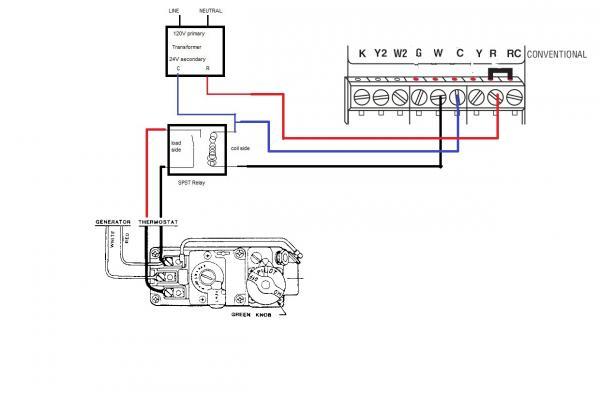 gas furnace control transformer wiring