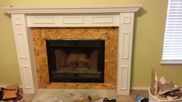 Fireplace Surrounds Cover With Drywall Or Pressed Wood For Tiling Doityourselfcom Community