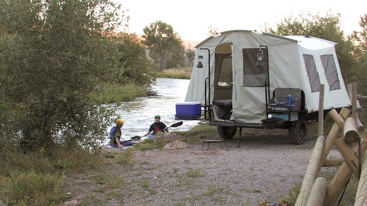 Jumping Jack Trailer Is Both Toy Hauler And Pop Up Camper