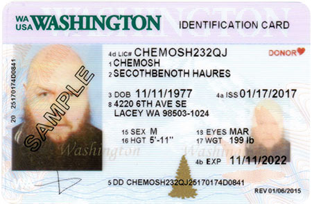 WA State Licensing (DOL) Official Site ID card designs