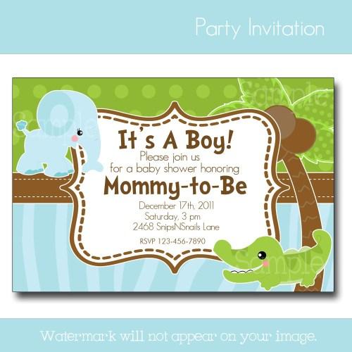 Medium Crop Of Baby Boy Shower Invitations