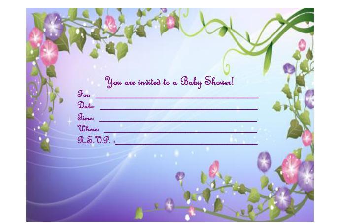 Easy Printable Baby Shower Invitations DolanPedia Invitations Template