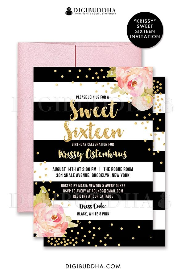 Sweet 16 Birthday Invitations Free Printable DolanPedia