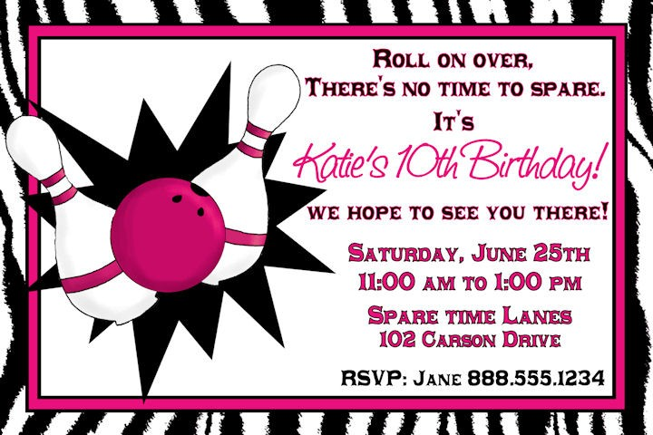 Free Printable Bowling Birthday Party Invitations DolanPedia