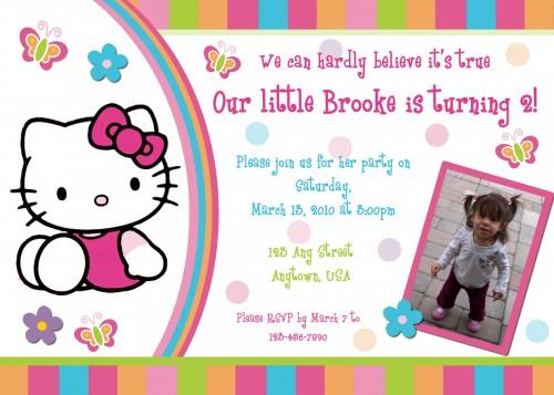 Free Printable Hello Kitty Birthday Invitations DolanPedia